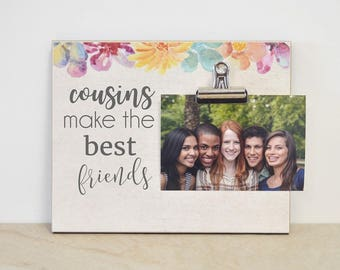 Cousins Make The Best Friends Photo Frame, Christmas Gift For Cousins, Custom Picture Frame, Personalized Photo Gift, Cousins Gift