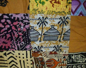"African patchwork Fat quarter 18""x 22"" inch fabric/ African patchwork craft fabric"