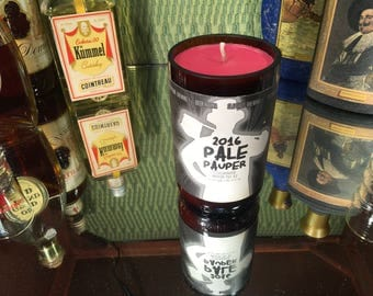 Mikerphone bottle with a Grapefruit soy candle