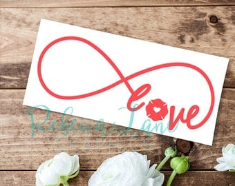 Firefighter Love Infinity Car Decal