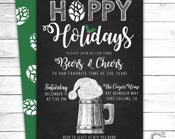 Hoppy Holidays Invitation