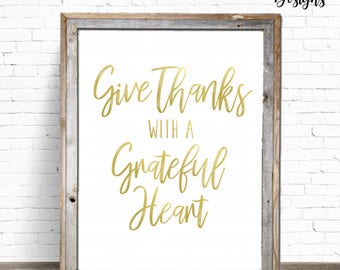 INSTANT DOWNLOAD: 8x10 Give Thanks Sign - Thanksgiving