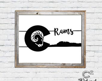 CSU Rams Horsetooth Sign | Fort Collins Printable Sign
