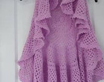 Hand-crocheted lady's circular waistcoat, TOTALLY UNIQUE S/M