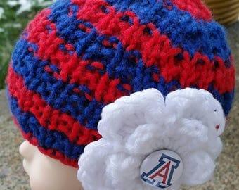 Wildcats, Free Shipping, Arizona baby, UofA, Arizona, Newborn, Newborn Baby girl, Baby, Arizona college sports team, Arizona baby hat