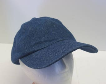 Plain Blank Denim blue jean hat cap empty minimal relaxed 90s
