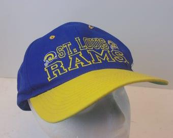 90s St. Louis Rams Snapback hat cap vintage NFL