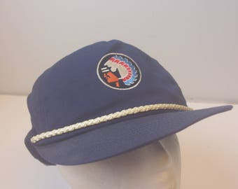 90s Native American hat cap chief leather strap