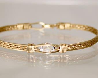 White Topaz 14 Kt Gold Filled Bracelet