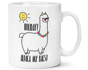 Holiday Alpaca My Bags 10oz Mug Cup