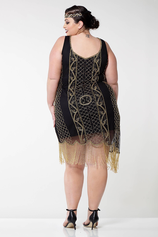 Gold Fringe Flapper Dress
