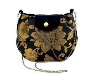 crossbody clutch - Shoulder bag, Velvet and Damask