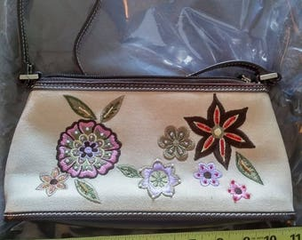 hand embroidered Liz Claiborne bag
