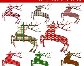 60% OFF SALE Reindeer Digital Clip Art - Personal and Commercial Use - Instant Download - C33