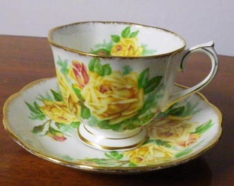 Vintage Royal Albert Tea Rose Tea Cup and Saucer