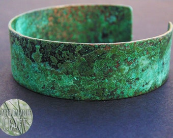 Forest Whispers Cuff Bracelet, Green Bracelet, Copper Cuff, Green Verdigris, Bohemian, Green Patina Bracelet, Free Spirit, Copper Jewelry