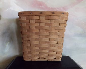Vintage Longaberger Hanging Basket Signed 1987