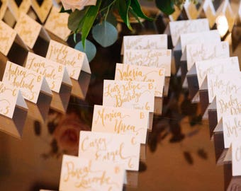 Custom Calligraphy Wedding Table Cards