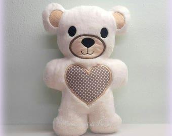 Soft white Teddy bear fabric