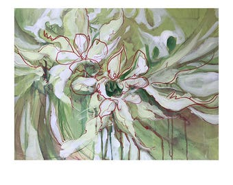 Flower painting,abstract landscape,abstract Flower painting, flowers, abstract panting, original flower painting, original flower art