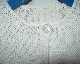 White cotton Cardigan