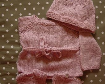 Life jacket baby pink alpaca and silk for maternity