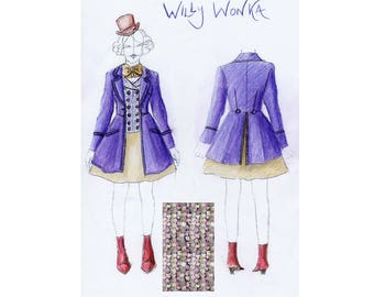 FOR KELLY ONLY Femme Willy Wonka costume 2nd installment