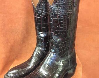 David Espinoza Espinizabootmaker Black Cherry Alligator Boots