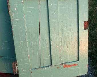 Salvaged Doors (pair) from early 20th century built-in...Chippy Green Paint, Architectural Salvage, Cottage Style, Faded Prairie, Way Cool