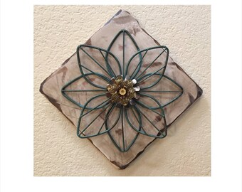 Rustic Flower Wall Hanging