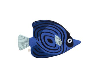 Blue butterfly fish (blue butterfly)-Fish case