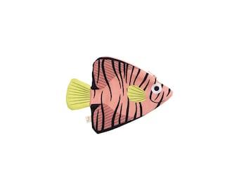 Pink BATFISH (pink filamentous)-purse or fish keychain