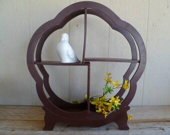 Asian Oriental Wood Curio Shelf