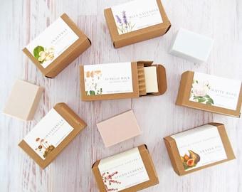 fine soap | choose your fragrance from fraser fig, spiced currant, white rose, blue lavender & more  | 4 oz botanical bath bar