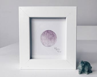 Framed Mini Moon Limited Edition Number 9/10