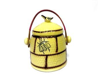 1950's Honeybee Hive Biscuit Jar by Webster House