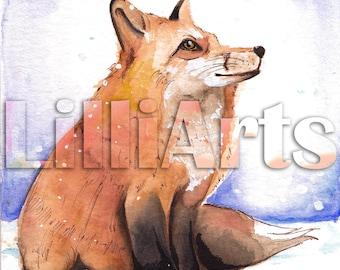 Winter Fox Art - Print