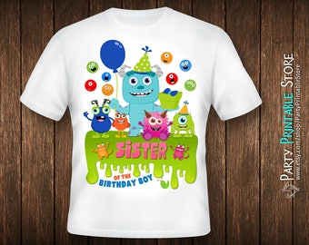 Birthday Sister Shirt, Monsters Inc Birthday Shirt, Monsters Inc Party Shirt, Iron On Monster, Monster Iron On,Monster Birthday Shirt Family