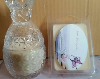 Mini crystal pineapple candle and soy melt bundle