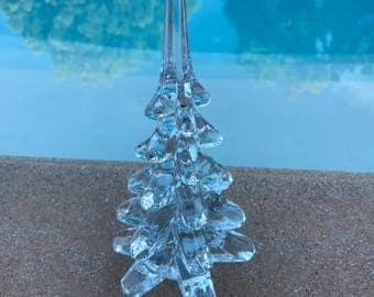 vintage glass christmas tree holiday decor hostess gift small christmas tree desktop tree - Glass Christmas Tree
