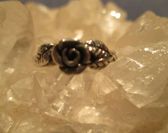 Sterling Silver Rose Ring ~Hand Cast~