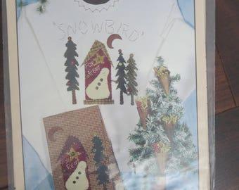 "Down Memory Lane ""Northwoods Snowbird"" applique sewing pattern"