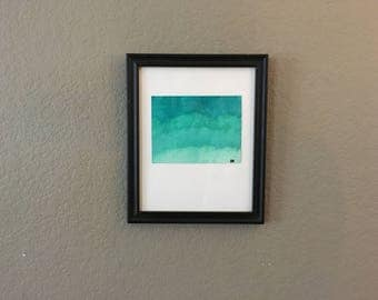 Green/Teal Abstract Watercolor Painting