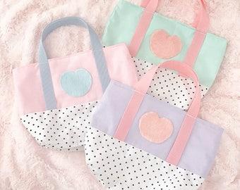 Polka Dot Heart Purse Bag