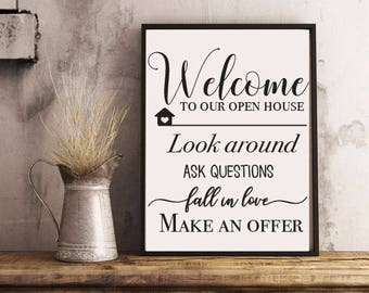 Open House Printable
