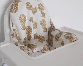 Antilop IKEA highchair cushion cover - cushion cover only - Heavy weight pineapple fabric cushion cover - gender neutral - MADE to ORDER