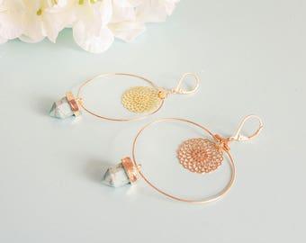 """Etnika"" gold plated brass earrings"