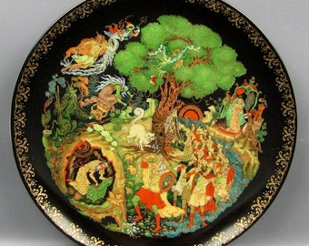 "RUSSIAN LEGENDS Collector Plate #4 ""Lukomorya"""