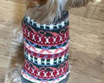 Custom Made Fair Isle Dog Sweater