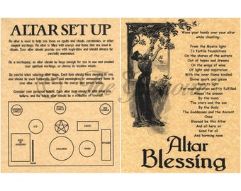 Book of Shadows Pages, Altar Set Up, Altar Blessing, Wiccan Altar, Altar How To, Altar for Beginner, Wicca, Witchcraft, like Charmed